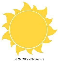 Sol de silueta amarilla
