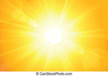 Sol de vector brillante con una bengala