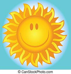 Sol de verano sonriente
