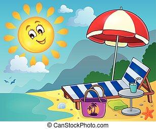 Sol en la playa