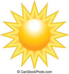 Sol en llamas amarillo