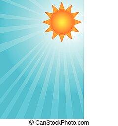 Sol en un cielo azul