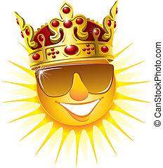 Sol en una corona de oro