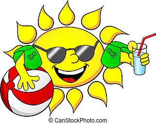Sol en vacaciones de verano