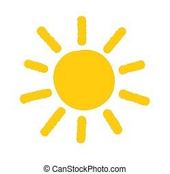 sol, garabato, icon., pintado