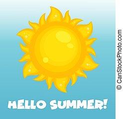 sol, icono, verano