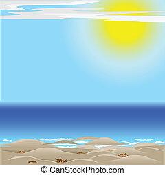 sol, mar de la arena