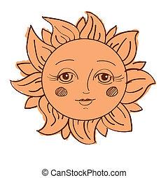 Sol pintado