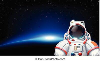 sol, planeta, astronauta