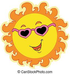 Sol primaveral con gafas de amor