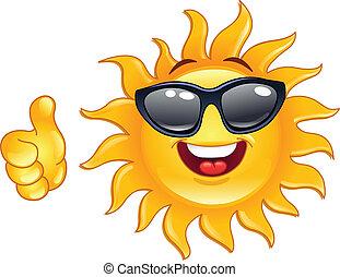 sol, pulgar up