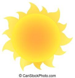Sol simple amarillo con gradiente