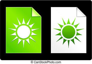Sol sobre papel