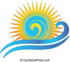 Sol y olas logotipo