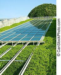 solar, panel.