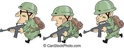 soldados, corriente