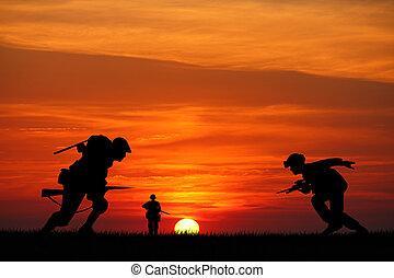 soldados, guerra