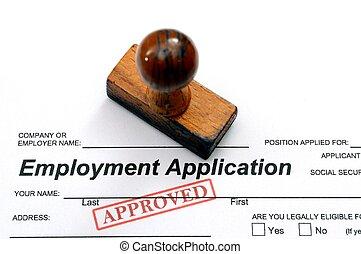 Solicitud de empleo, aprobada