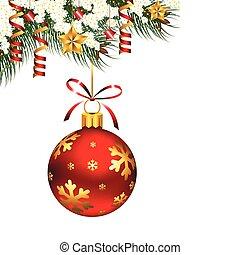 solo, ornamento, navidad