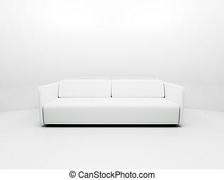 Solo sofá blanco