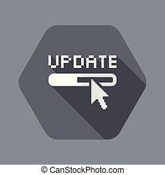 solo, vector, aislado, ilustración, actualización, icono