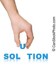 Solución de mano y palabra