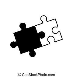 Solución de rompecabezas monocromo de colaboración