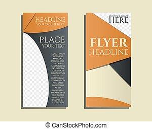 Soluciones inteligentes Brochure y diseño de folletos con la dirección Consultando concepto de palabras clave. Lo mejor para la empresa de consultoría, etc. Diseño geométrico único. Vector