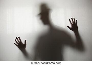 sombra, borroso