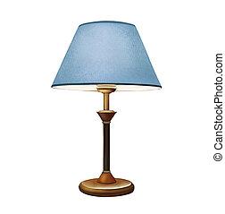 Sombra de lámpara azul. Lámpara de cama. Lámpara de mesa decorativa