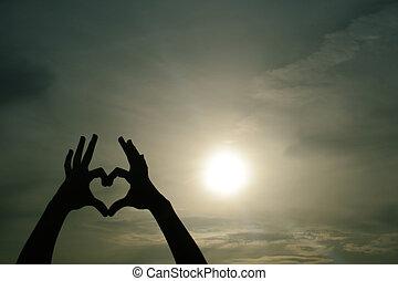 Sombra del corazón