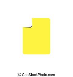 sombra, vector, pliegue, simple, diseño, papel