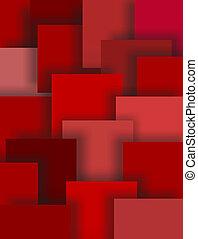 Sombras de cuadrados rojos, arte abstracto