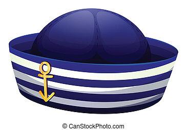 sombrero azul, ancla