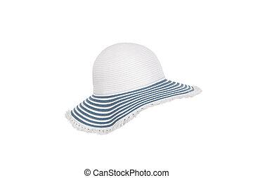 sombrero blanco, fondo.