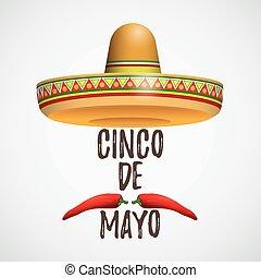 Sombrero cinco de mayo chile