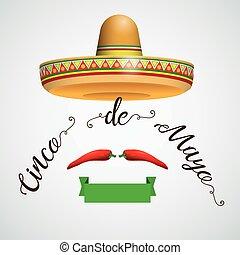 Sombrero cinco de mayo cinta chile