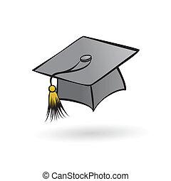 sombrero, estudiante, graduado