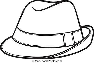 Sombrero Fedora (la clásica fedora de los hombres)