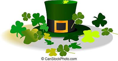 Sombrero Leprechaun. St. Patrick. Ilustración del vector