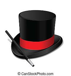 Sombrero mágico con varita mágica