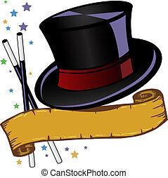 Sombrero mágico de tono y ilustración del vector