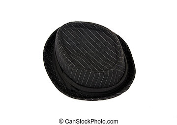 Sombrero negro en blanco