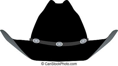sombrero negro, vaquero