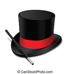 sombrero, varita, magia