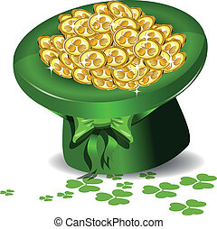 Sombrero verde con dinero