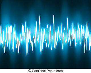 sonido, oscilando, light., eps, ondas, 8, brillo
