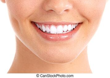 Sonrían y dientes sanos.