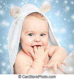Sonriendo bebé