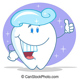 Sonriendo de dientes con dentífrico